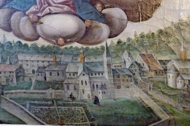 Klosterplan in der Friedhofskapelle