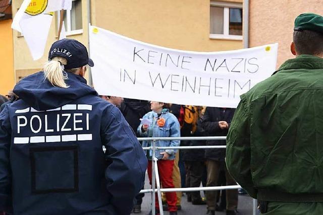 Weinheim stellt sich gegen die NPD und deren Bundesparteitag