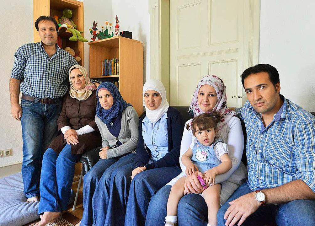 Sie können in Deutschland bleiben: Familie Diab    Foto: Michael Bamberger