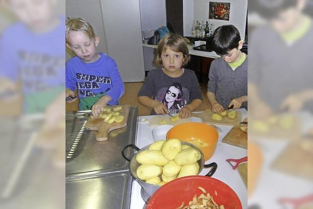 Zur Krönung eine leckere Kartoffelsuppe