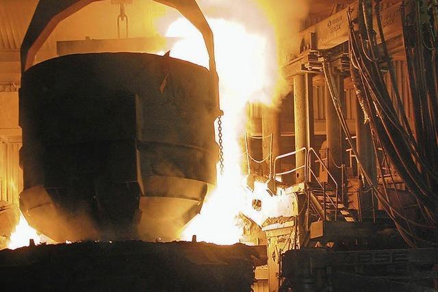 Ziel sind täglich 8000 Tonnen Stahl