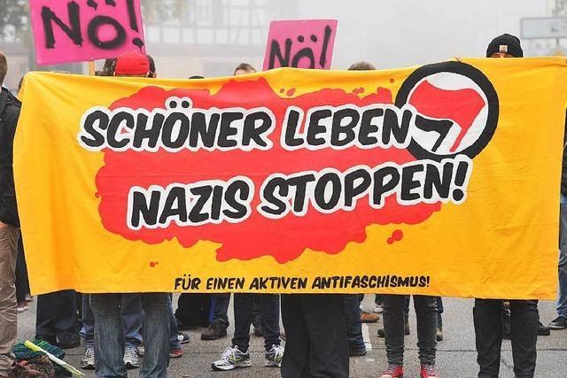 Proteste gegen NPD-Versammlung in Weinheim