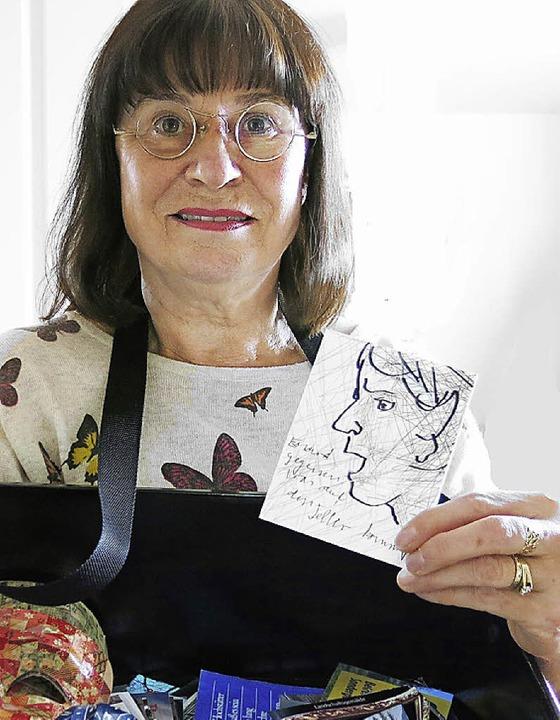 Ulla Klomp und die Hydra, Visualisierung eines ihrer Gedichte  | Foto: Privat