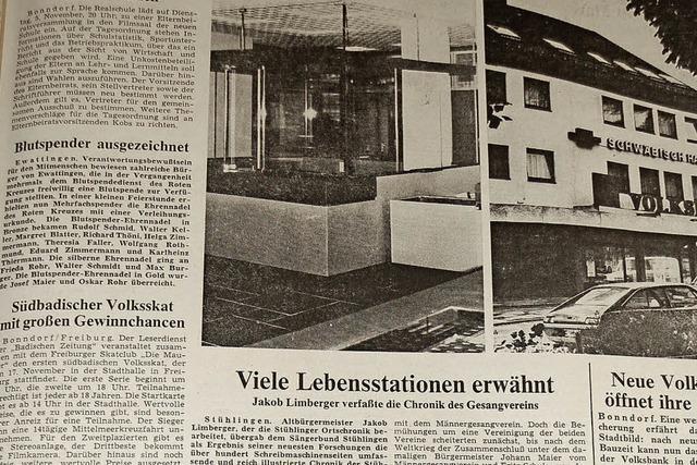 Seit 40 Jahren hat die Badische Zeitung eine Redaktion in Bonndorf