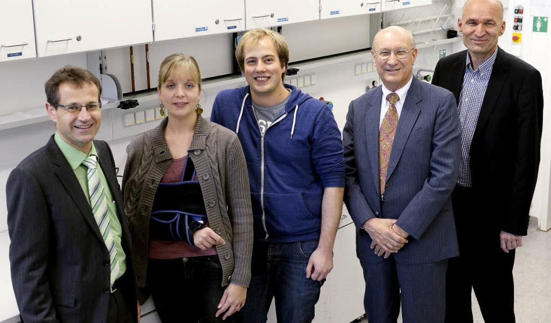 Das Graduiertenkolleg der Pharmazie (v...de, Heinz Floss und Andreas Bechthold.  | Foto: INGO SCHNEIDER