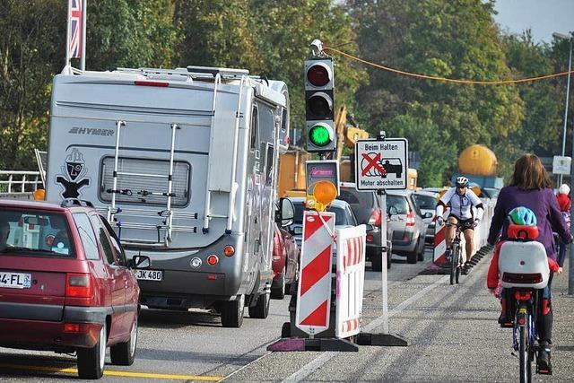 Rheinbrücke voraussichtlich ab Freitagabend wieder zweispurig befahrbar