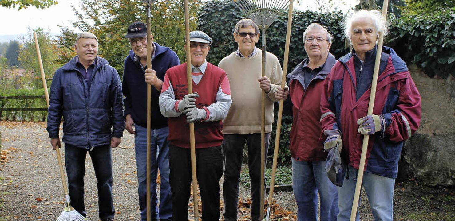 Pensionäre und Rentner unterstützen den Bauhof.   | Foto: stadt