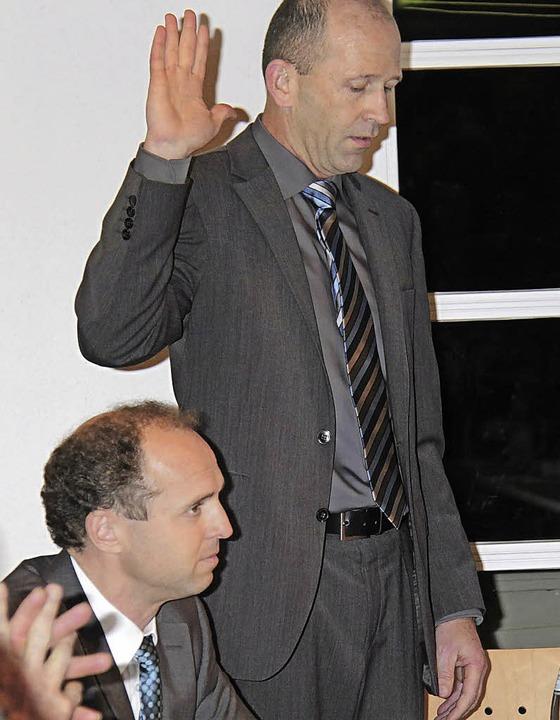 Christian Behringer legte vor vier Jahren den  Amtseid ab.  | Foto: Wilfried Dieckmann