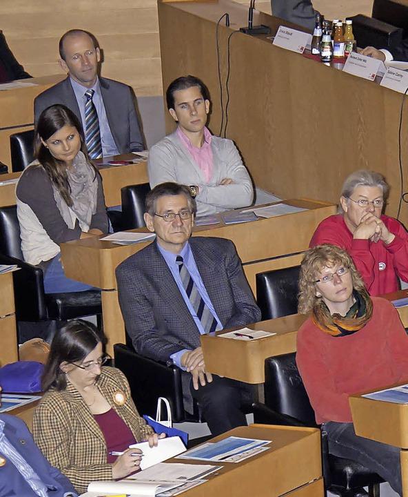 Behringer  beim Bildungstag zum Thema Schule im Landtag.  | Foto: Wilfried Dieckmann