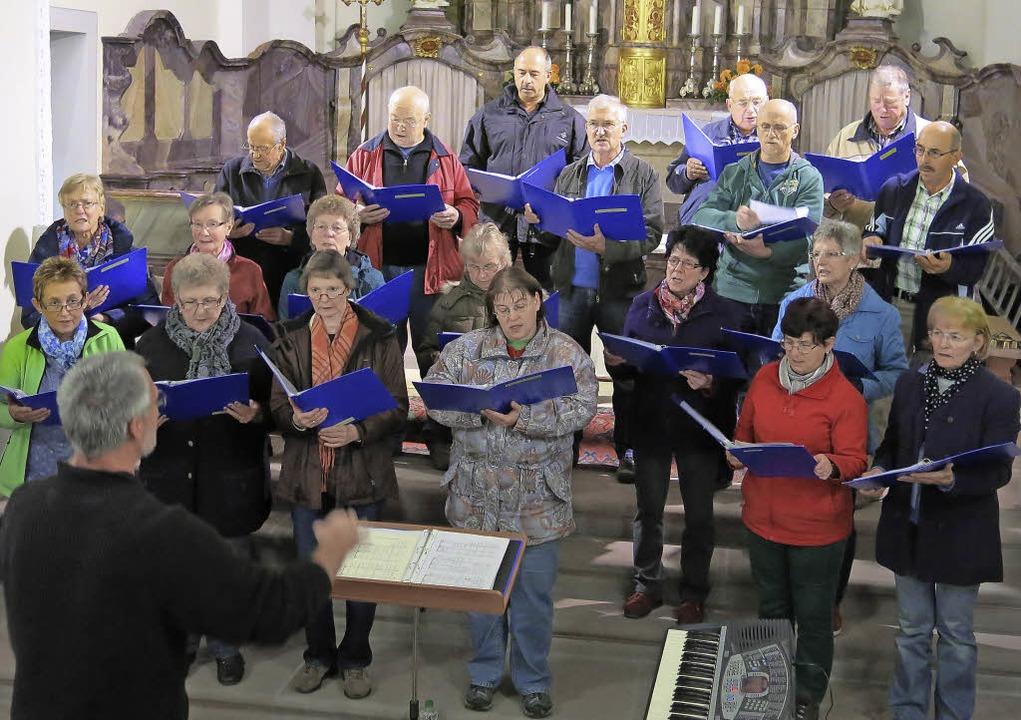 Dirigent und Chorleiter Wolfgang Hiesk...konzert in vielen Proben vorbereitet.   | Foto: Erhard Morath