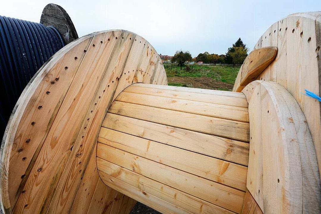 Im Baugebiet Gutleutmatten wird ein gr... – erstmal bei den Bauarbeiten.   | Foto: Ingo Schneider