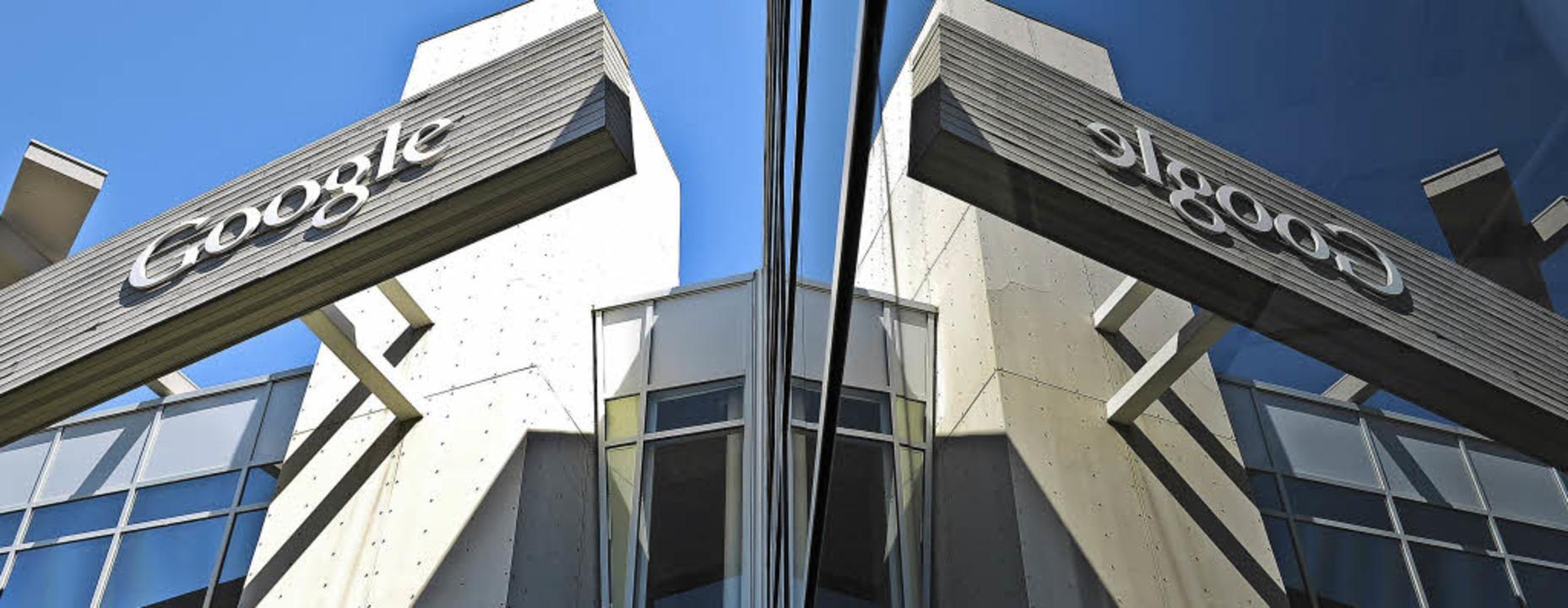 Eingang in die Google-Welt: Das Konzerngebäude im Silicon Valley   | Foto: dpa