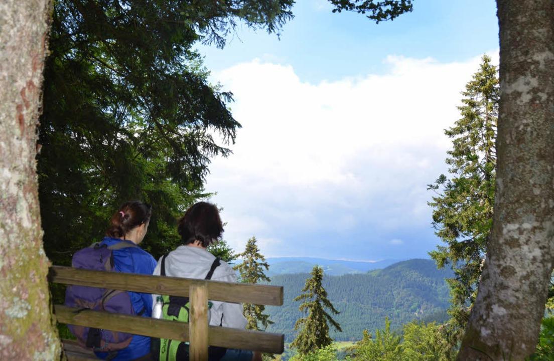 Wie eingerahmt: Der Blick vom Turmstei...als Bild mit nach Hause nehmen würde.   | Foto: Anita Fertl