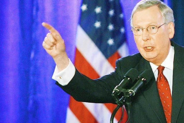 Mitch McConnell wird Obamas Gegenspieler im Senat