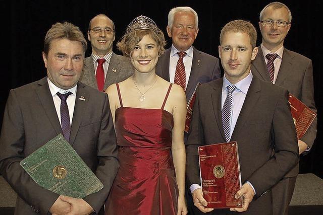 Fünf Ehrenpreise für Weinbauern der Region