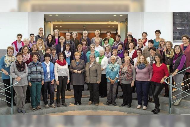 Landfrauen treffen die Kanzlerin in Berlin