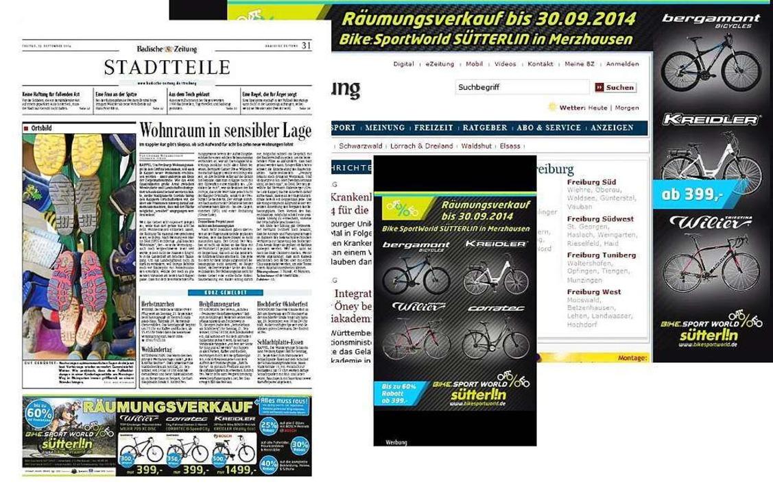 Den 1. Platz (Werbeguthaben im Wert vo...Rad-Haus Bike.Sport.World  in Freiburg  | Foto: bz