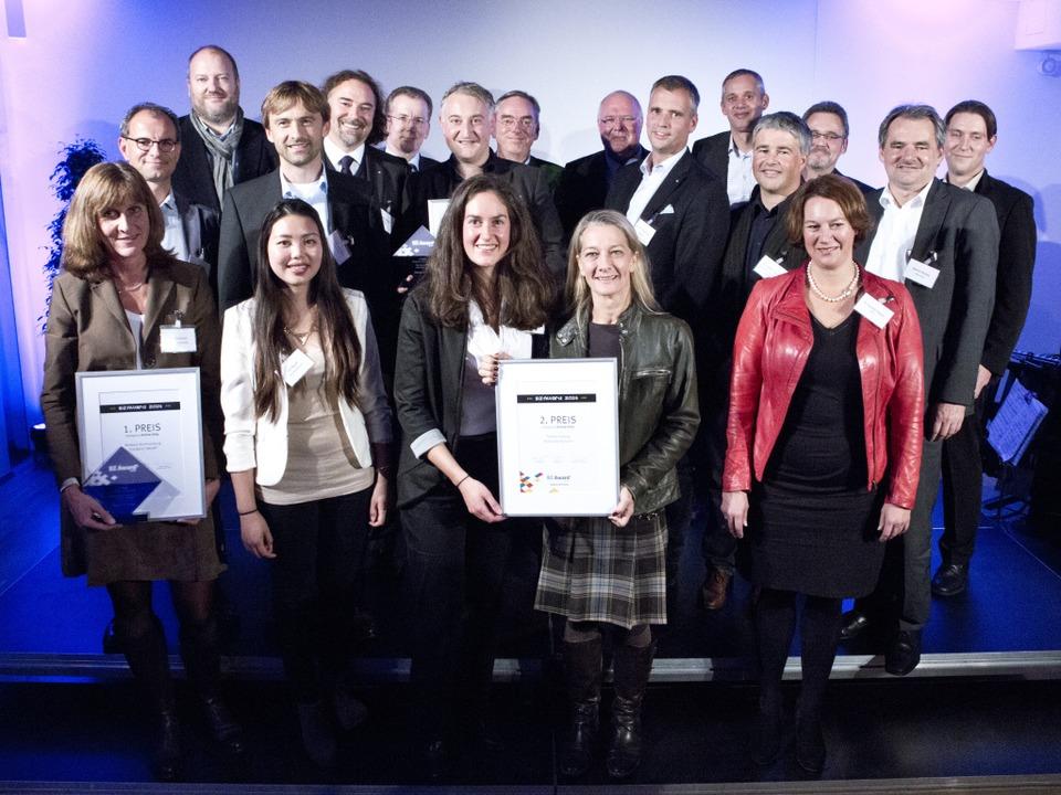 Gewinner, Laudatoren und Gastgeber des BZ-Awards 2014  | Foto: Regula Wolf