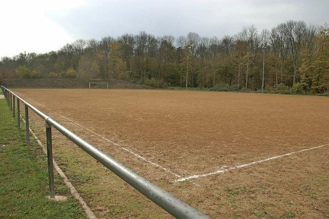 Kicken: statt auf Tenne bald auf Rasen