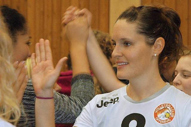 Ehemalige Nationalspielerin Svenja Engelhardt beim VC Offenburg