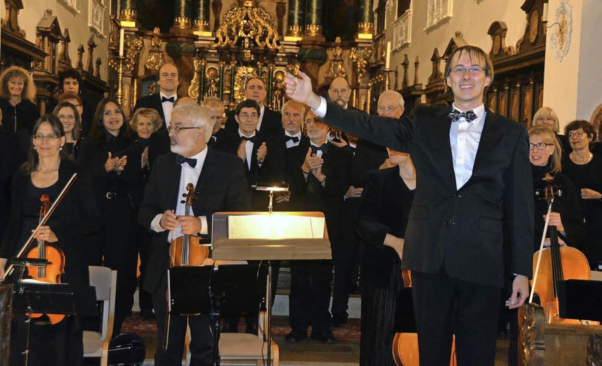 Der Kammerchor Bad Säckingen unter Lei... ein Konzert mit Werken der Romantik.   | Foto: Michael Gottstein