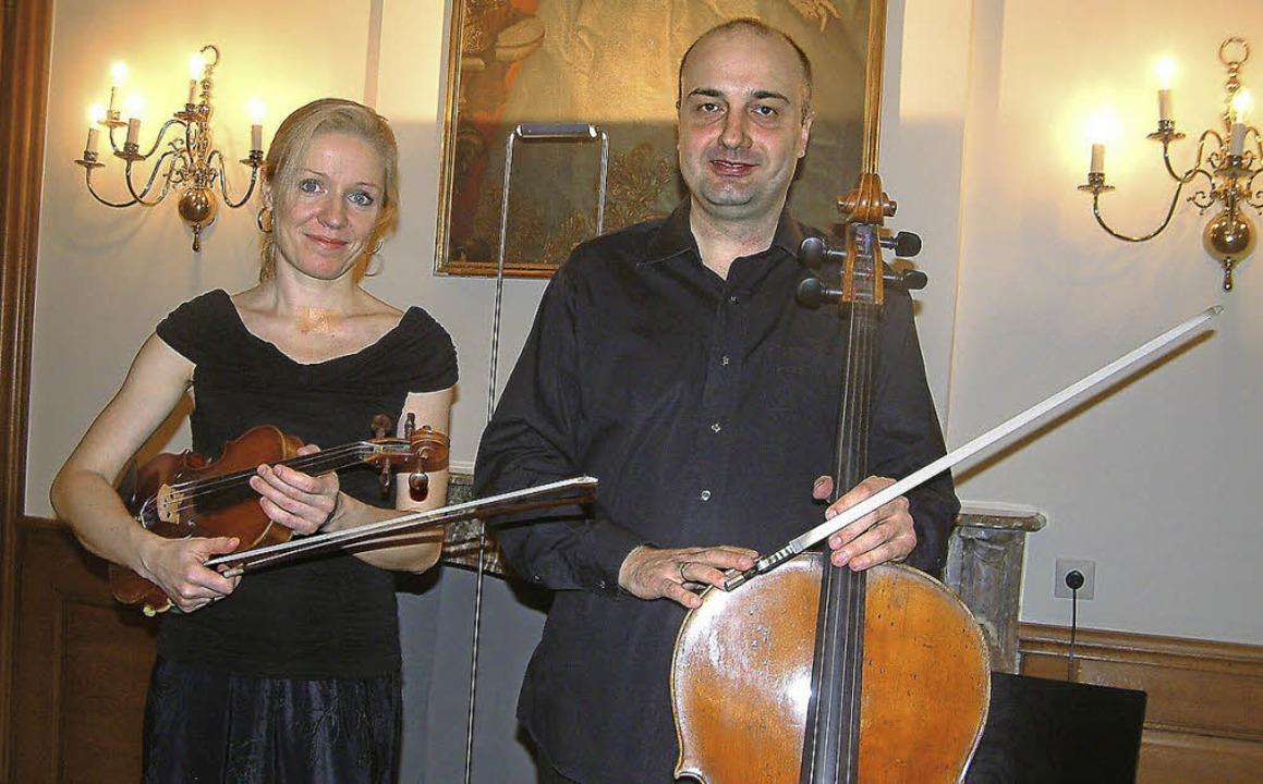 Eva Bindere und Denis Severin   | Foto: Roswitha Frey
