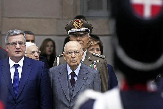 Rücktritt von Staatspräsident Giorgio Napolitano steht bevor
