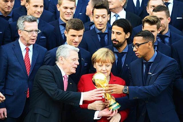 Bundespräsident Gauck ehrt deutsche Titelhelden