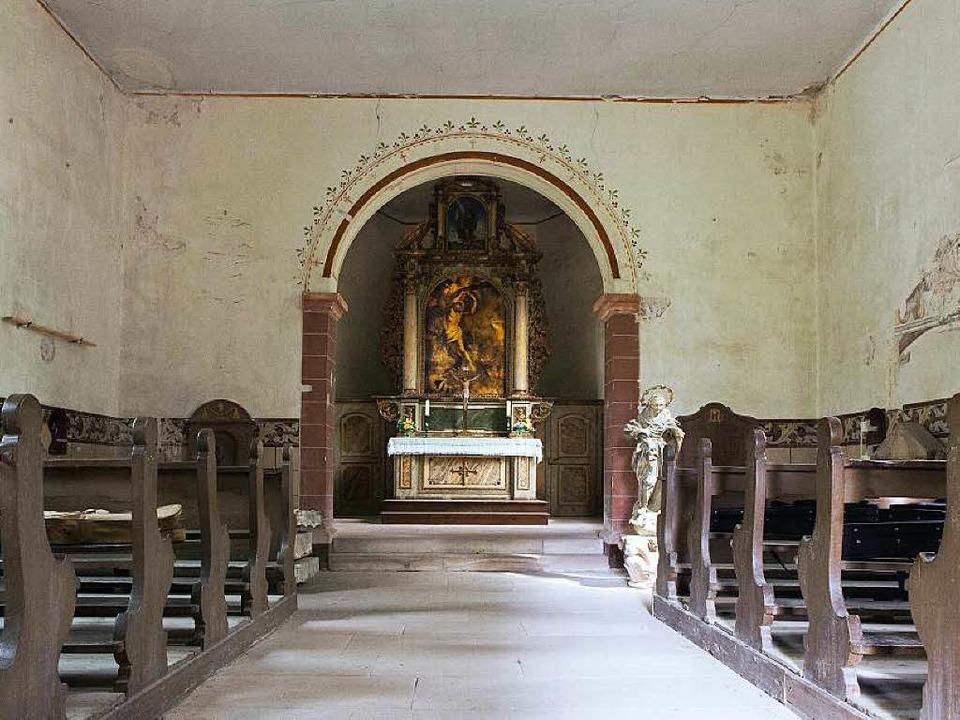 Die Kapelle St. Sebastian von innen.  | Foto: Photographer: Gabriele Zahn