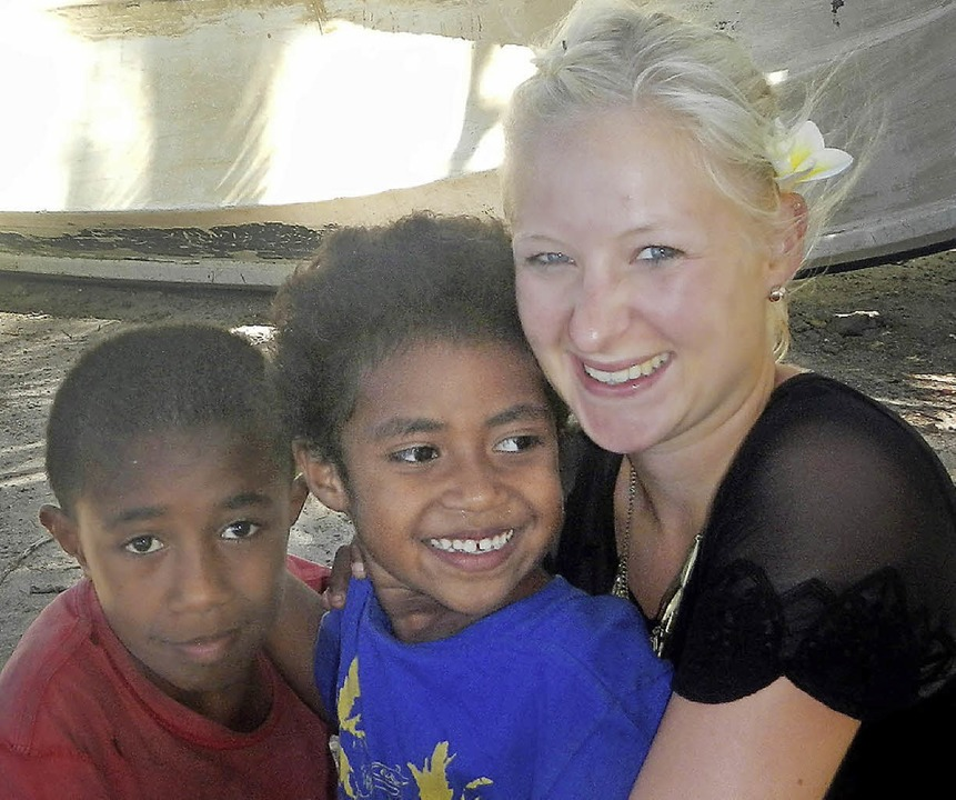 Besonders herzlich war für Caroline We...Zusammensein mit den Kindern in Galoa.  | Foto: Adelbert Mutz