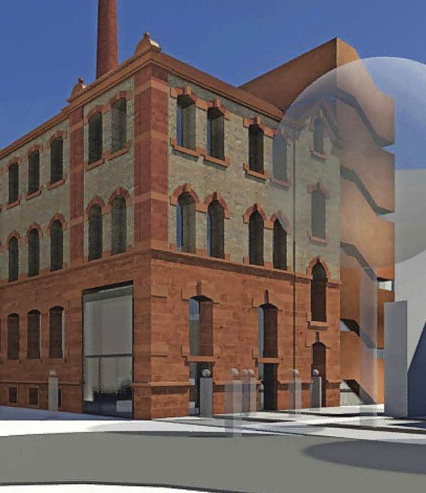 Die ehemalige Tonofenfabrik könnte zur...r Fußgängerzone Marktplatz gestaltet.   | Foto: animation: büro hparc