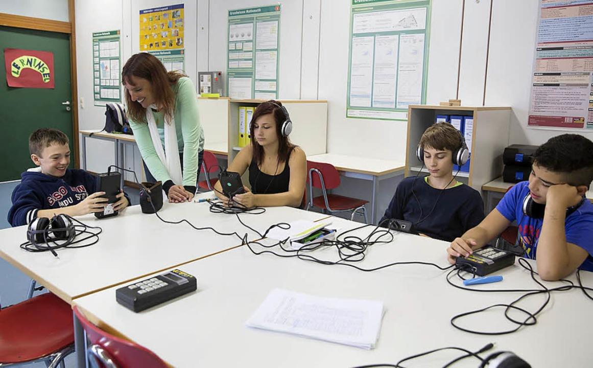 In der Lerninsel trainieren  Schüler  ihre Wahrnehmung.    | Foto: chevalier