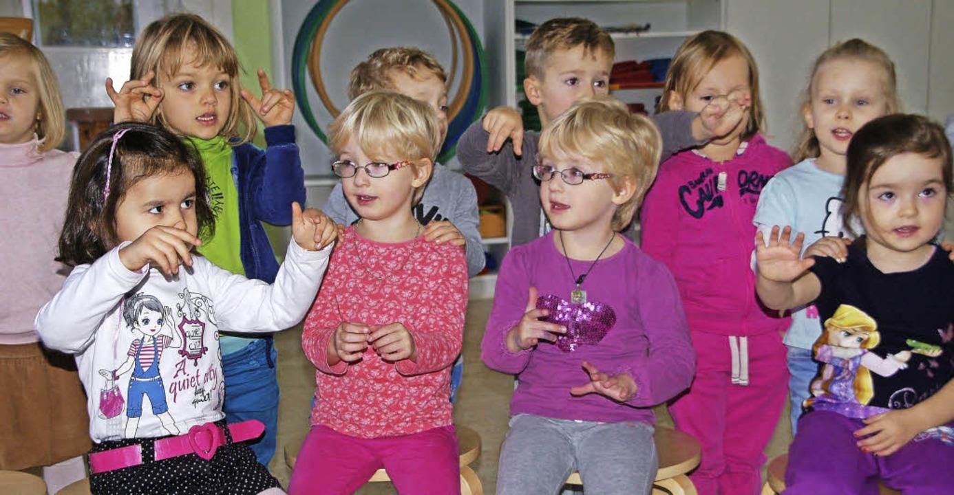Die Kinder in der Tagesstätte Bienenko... machen beim Modellprojekt gerne mit.     Foto: Petra Wunderle