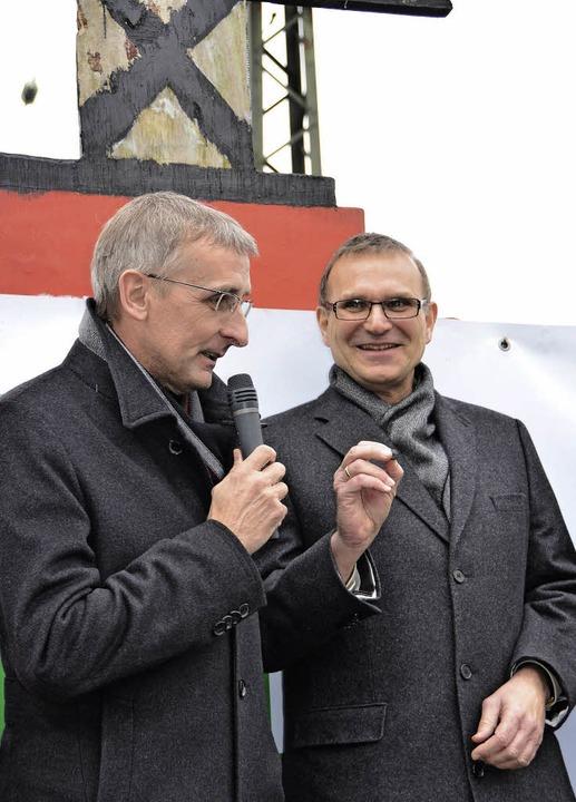 Januar 2013: Abgeordneter Armin Schust...e Bürgertrasse gemacht werden könnte.   | Foto: Sigrid Umiger