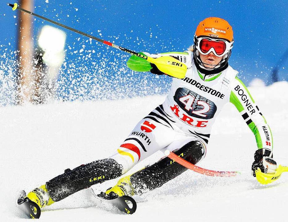 Im Slalom nicht mehr weit entfernt von der Weltspitze: Maren Wiesler   | Foto: afp