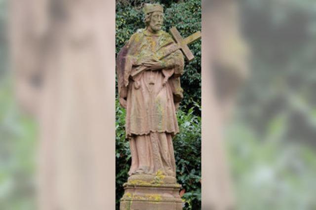 Nepomuk-Statue an der Hauptstraße wird saniert