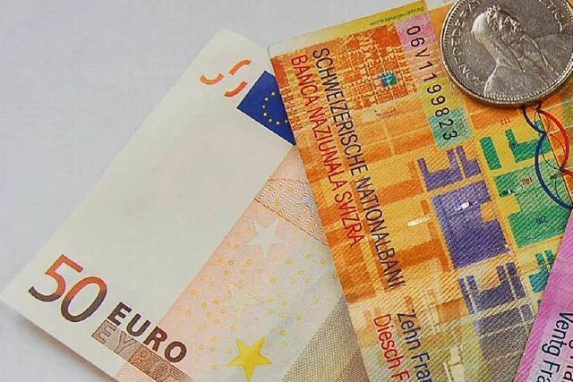 Aus Franken mach Euro? Bad Säckingen wird dabei Geld verlieren