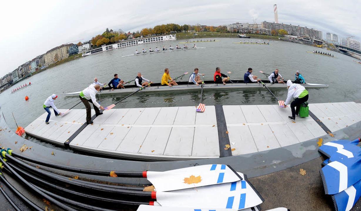 Die Regatta Basel Head bot  erneut hochklassigen Rudersport mitten in der Stadt.    Foto: Meinrad Schön