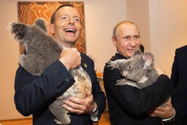 Putin hält in Brisbane Hof