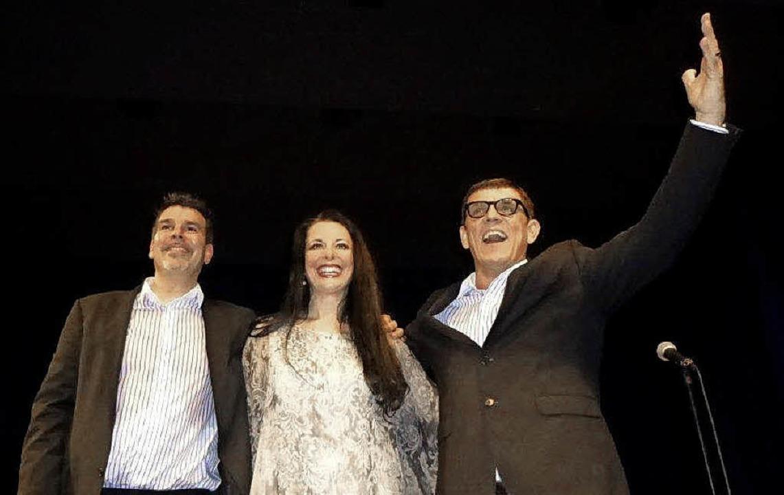 Ein Trio, das begeistert: Philipp und ...a Moehrke mit Helmut Dold (von links).  | Foto: Anne Freyer