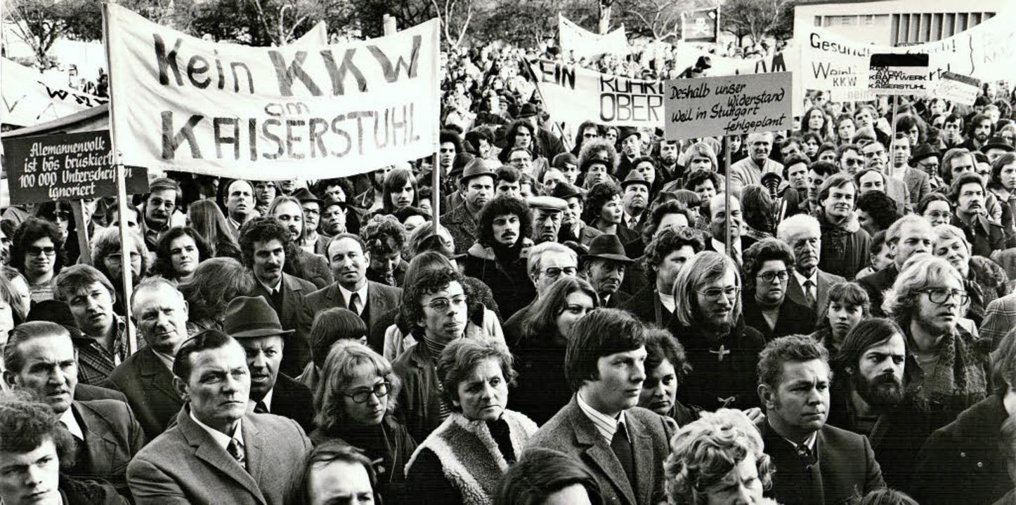 Bürgerprotest gegen Atomkraft in der R...erstand den Bau eines Atomkraftwerks.   | Foto: Meinrad Schwörer