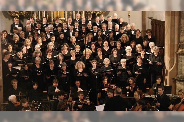 Freiburger Kantatenchor und der Chœur Schütz aus Besançon singen in Freiburg und Kirchhofen