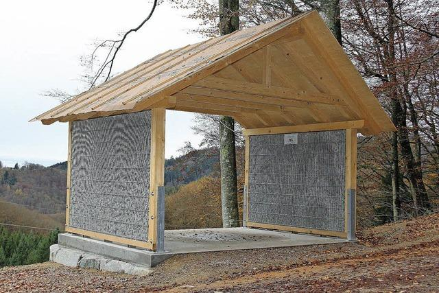 Neue Schutzhütte auf dem Lindenbückle