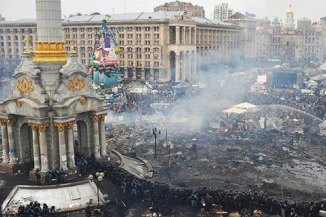 Beginn der Massenproteste in Kiew liegt ein Jahr zurück