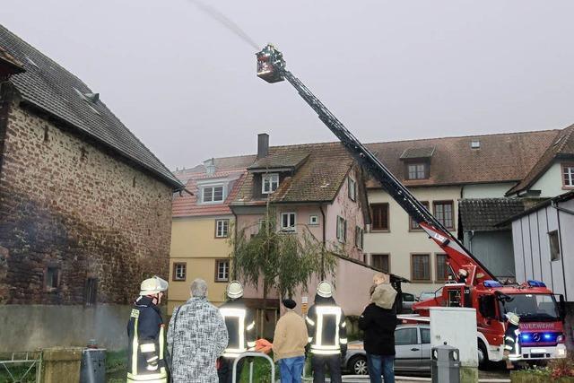 Brand gelöscht und Müller gerettet