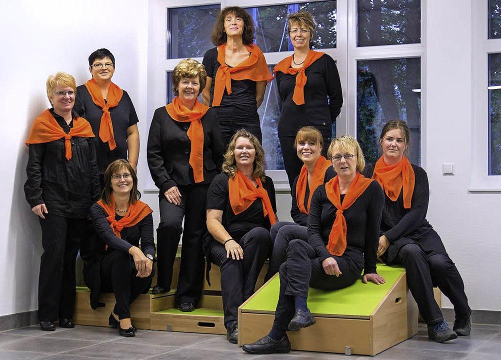 Dem Vorstand des Frauen- und Kindergar...nkelmann, Tanja Strnad und Tine Joos.     Foto: Privat