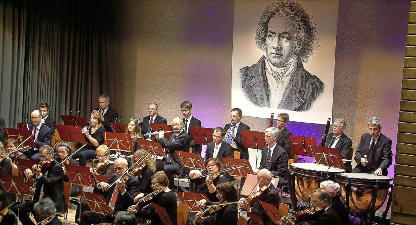 <Text>Dem Klassiktitanen Beethoven war...Orchestergesellschaft gewidmet</Text>   | Foto: Roswitha Frey