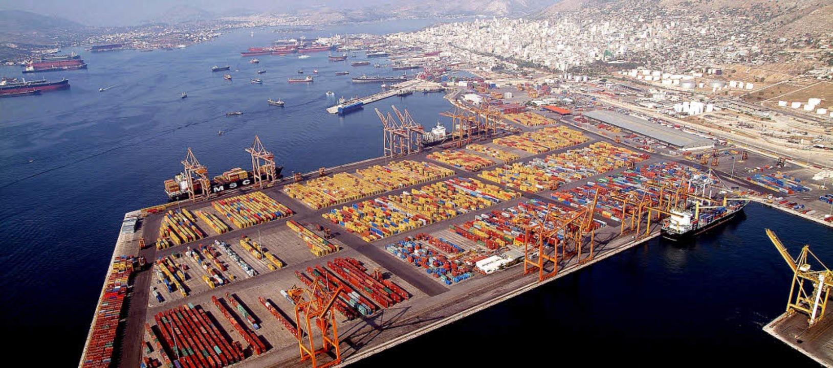 Der Hafen von Piräus bei Athen  | Foto: dpa