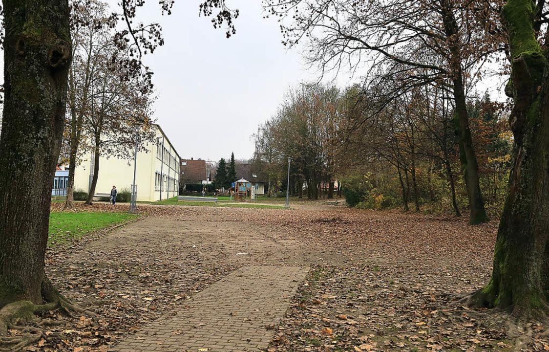 Der triste  Schulhof der Grund- und We... vom Förderverein umgestaltet werden.   | Foto: Sandra Decoux-Kone