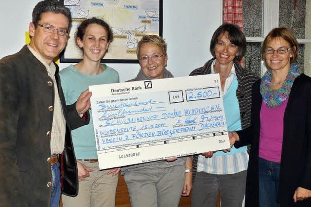 2500 Euro für Schulbauernhof
